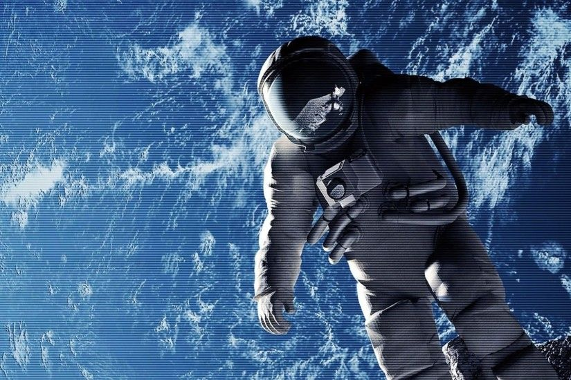 1920x1080 Wallpaper cosmonaut, weightlessness, space suit, open space