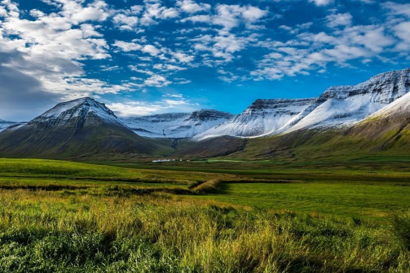 landscape nature mountains sky clouds Iceland wallpaper