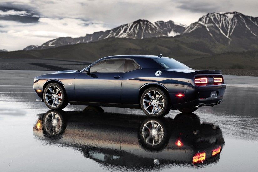 2017 Dodge Challenger Black Wallpaper Background - HD Wallpaper