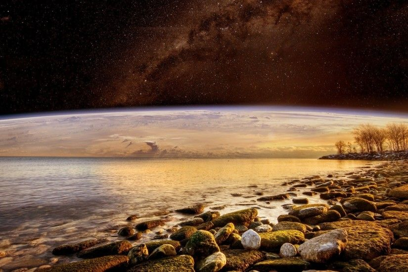 Alien Landscape Planet Stars space sci-fi wallpaper | 1920x1200 | 45082 |  WallpaperUP