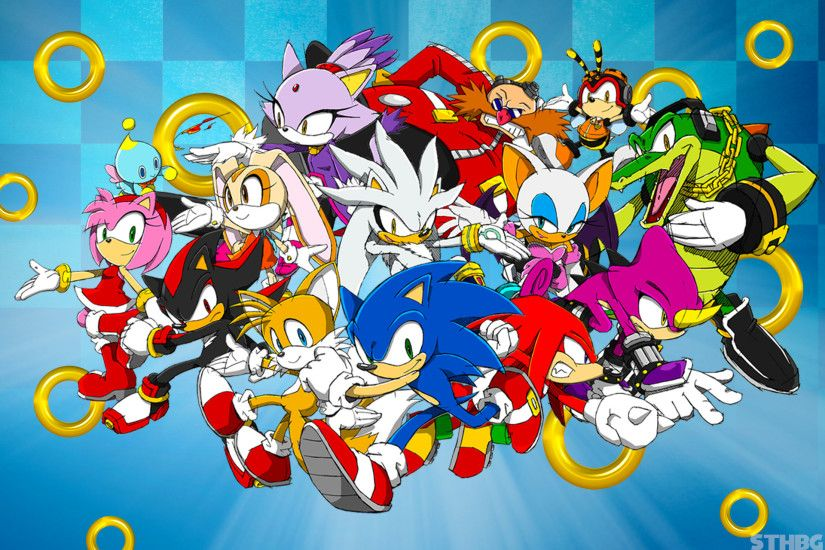 Classic Sonic The Hedgehog And Friends Wallpaper by
