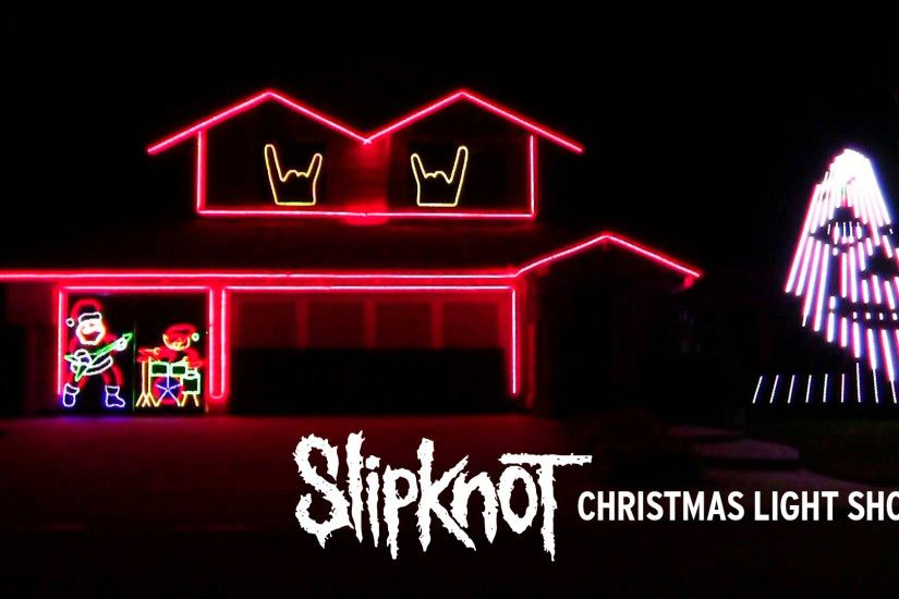 "SLIPKNOT Fan Creates Christmas Light Show To ""Psychosocial"" and It Rules! -  Metal Injection"