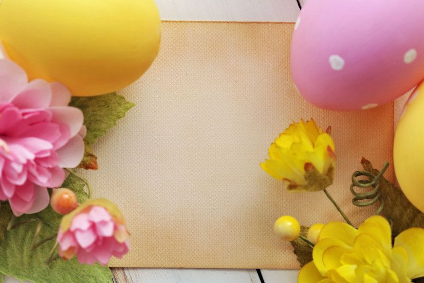 Easter eggs and flowers HD Wallpaper 1920x1080 Easter ...