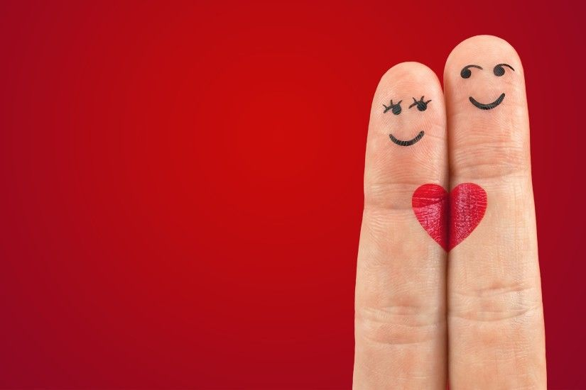 Love Pair Heart Fingers