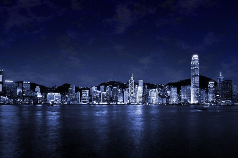 "This free inspiring wallpaper ""Beautiful city at night"" is under Cities,  City Lights, Dark wallpaper, Night, Skyscrapers"