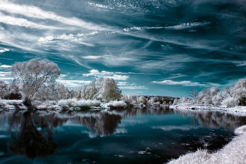 Lakes - Snow Skyscapes Nature Balance Background Images Hd for HD 16:9 High  Definition