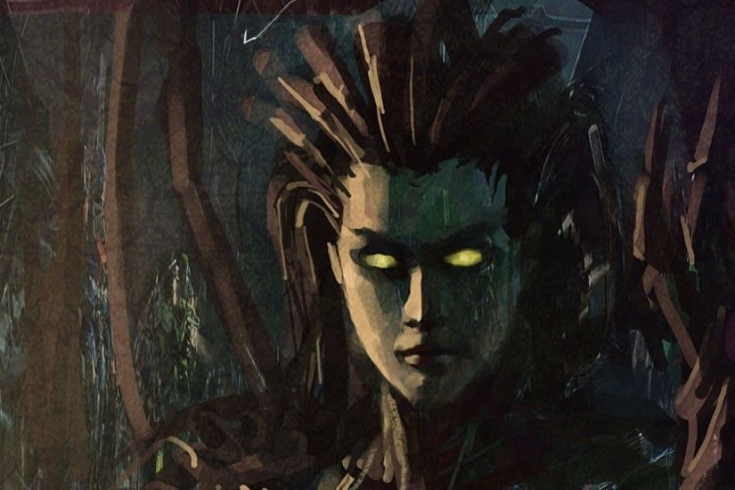 starcraft fantasy art artwork sarah kerrigan queen of blades kerrigan  1920x1080 wallpaper