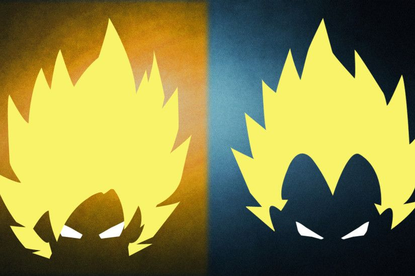 OC] First ever attempt at Minimalist Art [GOKU and VEGETA] : dbz