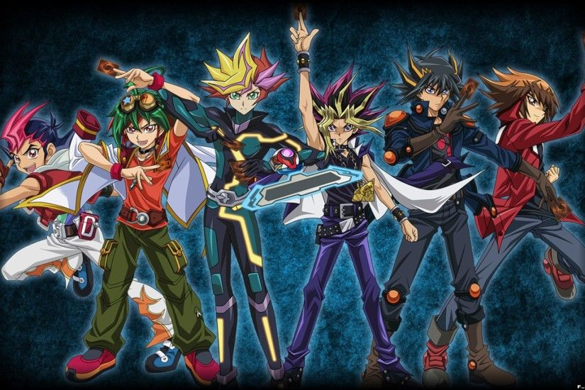 All Yu-Gi-Oh! Protagonists (Wallpaper/Background) by FackuuLa12 on  @DeviantArt