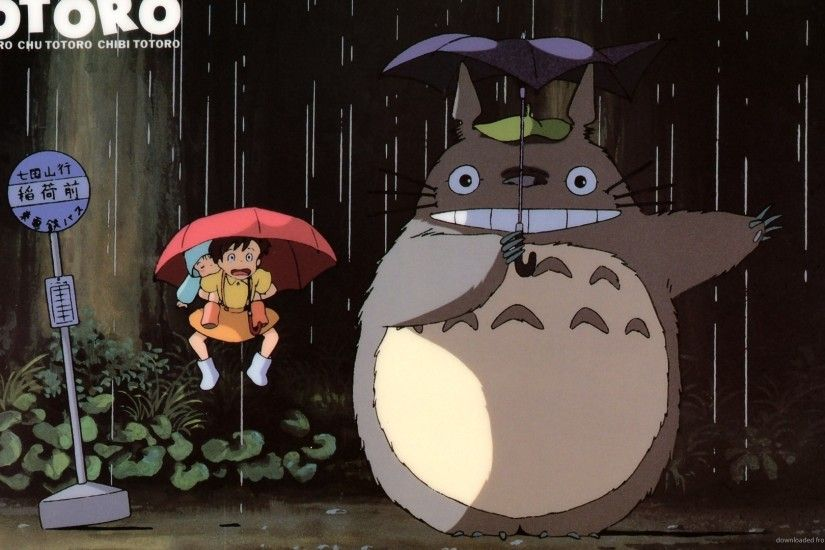 HD My Neighbor Totoro in the rain wallpaper