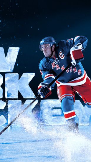 Preview wallpaper ew york rangers, hockey, ice hockey, ice 1440x2560