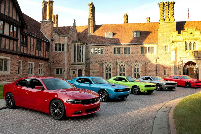 Preview wallpaper yard, 100th, cars, anniversary, dodge, challenger,  charger,