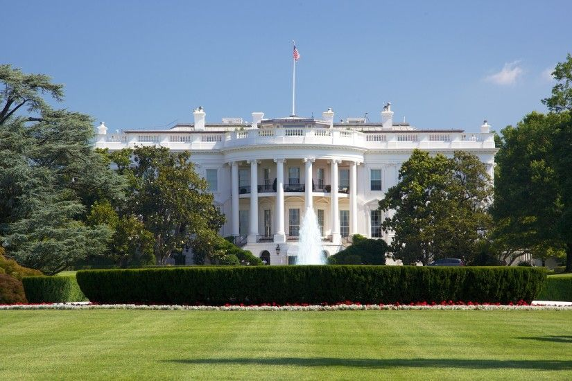 Wallpaper: View with White House. Ultra HD 4K 3840x2160