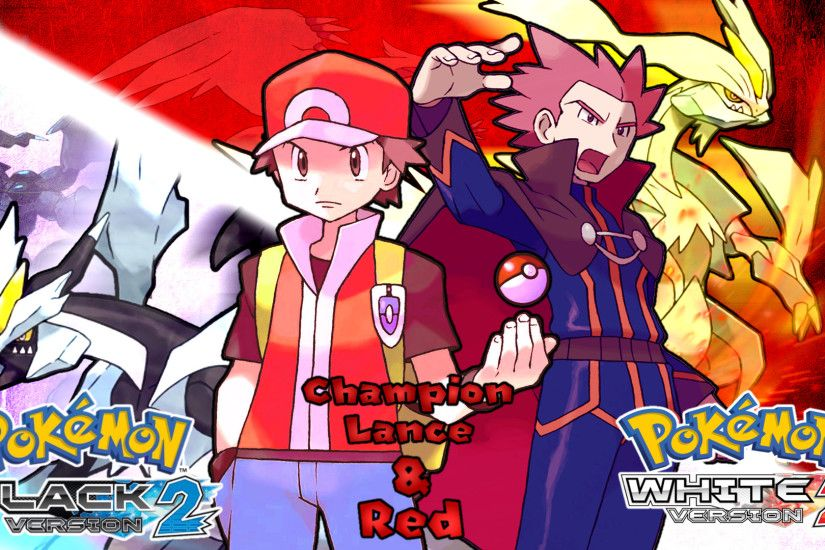 ... Pokemon BW2- Lance and Red Wallpaper by MattPlaysVG