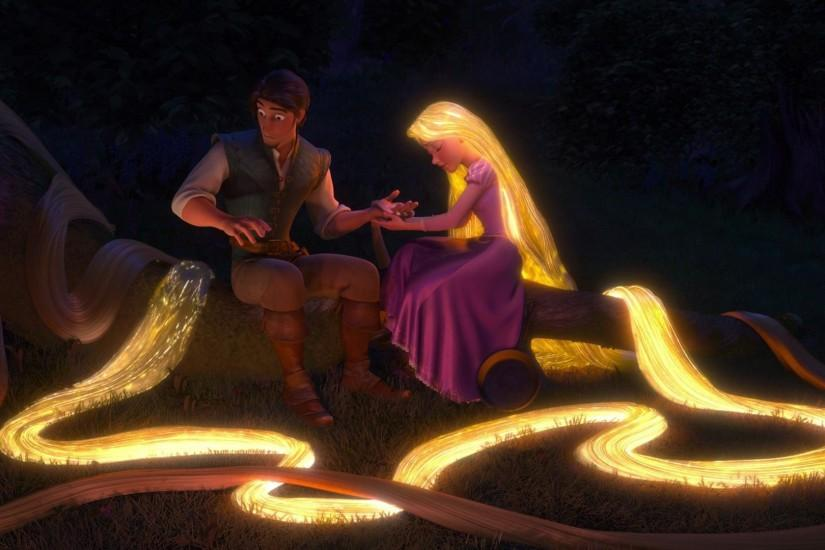 tangled, rapunzel, eugene fitzherbert, flynn rider, hair, night