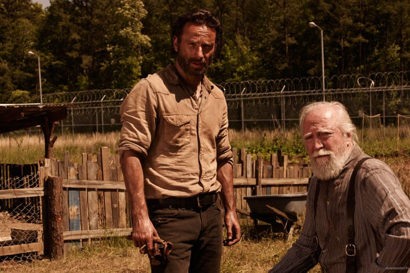1920x1080 Rick Hershel The Walking Dead Season 4 wallpaper