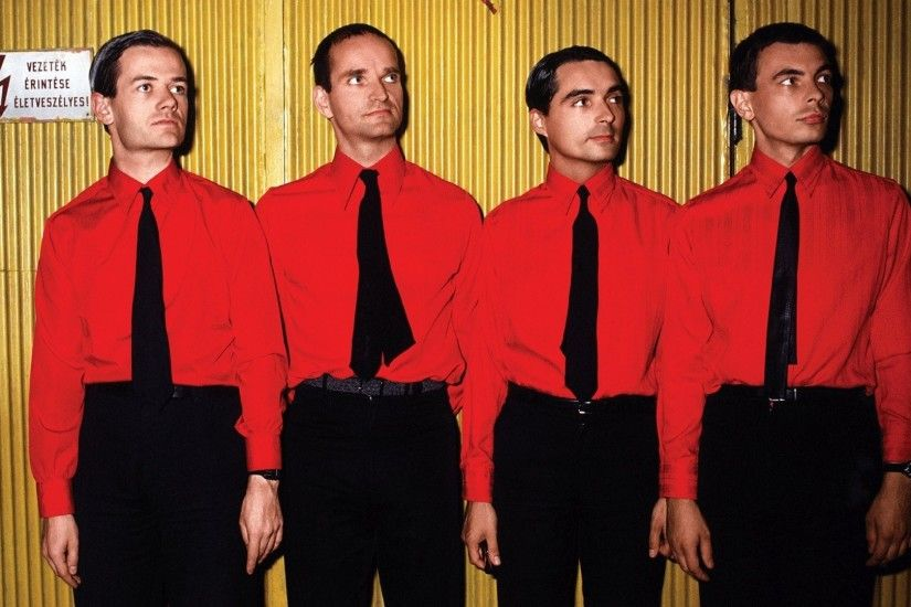 1920x1080 Wallpaper kraftwerk, band, members, ties, wall