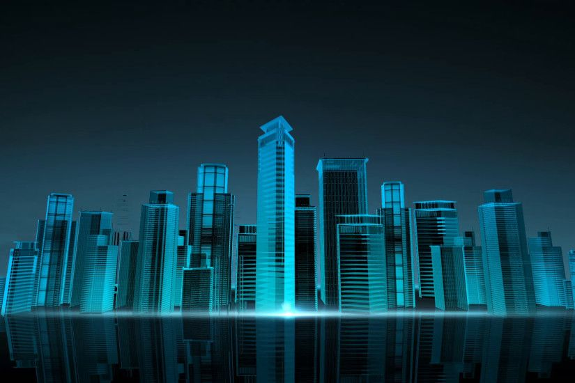 Construction building city skyline and make city in animation. nighttime  2.3D illustration,3D rendering. 3D rendering. Motion Background -  VideoBlocks
