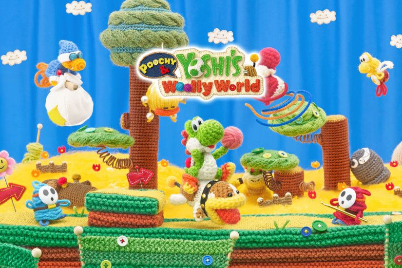1 Poochy & Yoshi's Woolly World HD Wallpapers | Backgrounds - Wallpaper  Abyss