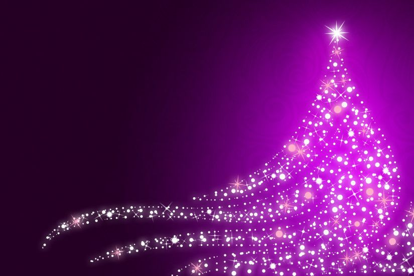 Christmas lights, Xmas tree, Purple, HD