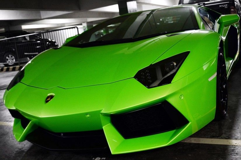 ... wallpapers lamborghini aventador green front side car pictures ...