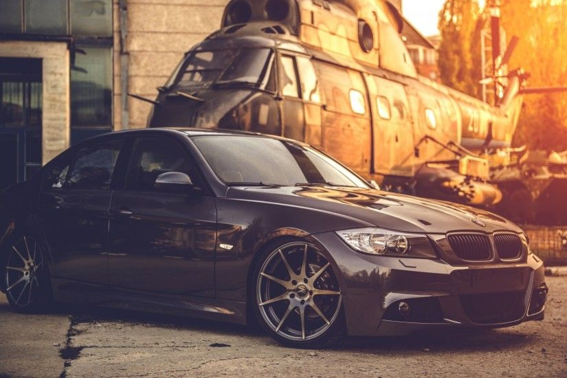 1920x1080 Wallpaper bmw, e90, deep concave, black, helicopter