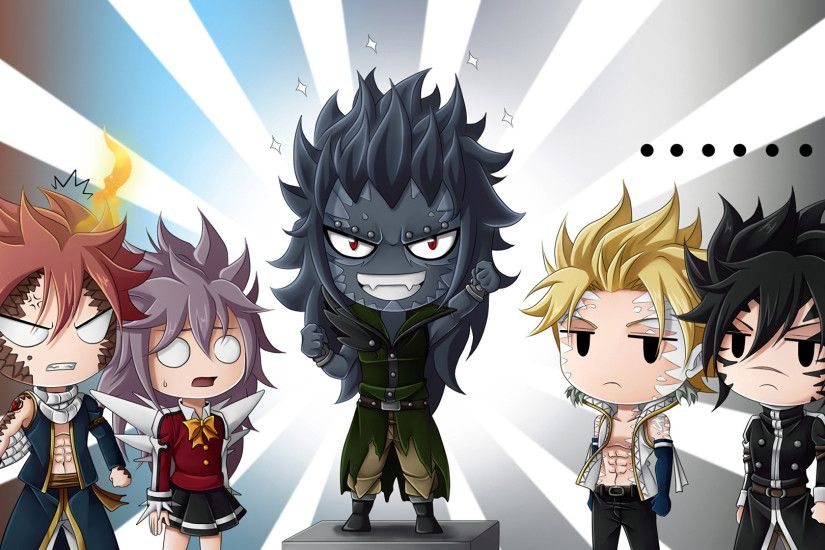 Anime - Fairy Tail Natsu Dragneel Wendy Marvell Gajeel Redfox Sting  Eucliffe Rogue Cheney Fondo de