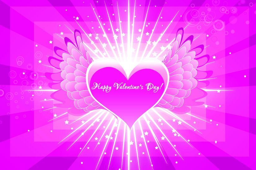 Pink Heart Hd Wallpaper Free Valentines Day