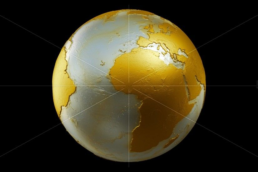 Preview wallpaper earth, globe, planet, gold 2560x1440