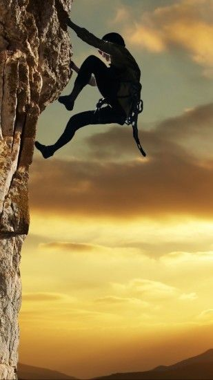 Sports Climbing Sun Man Extreme. Wallpaper 452736