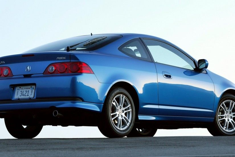 3840x2160 Wallpaper acura, rsx, 2005, blue, side view, style, cars