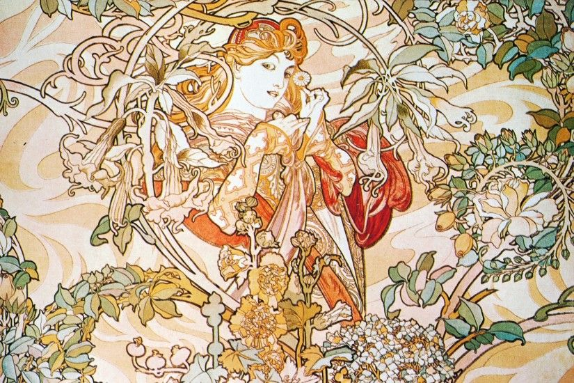 2560x1600 Alphonse Mucha Background.