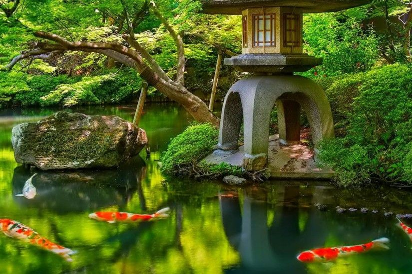 top japanese garden background in high quality goldwall