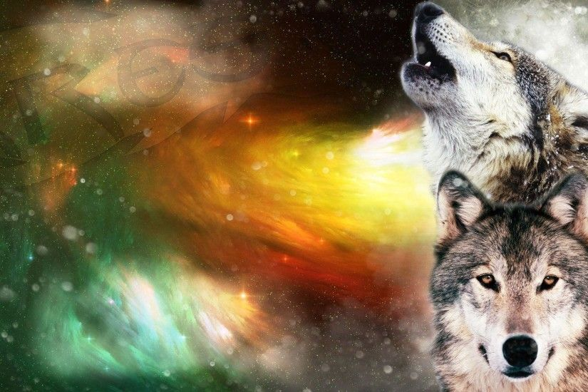 <b>Wolf Howling</b> At The Moon <b>Wallpapers