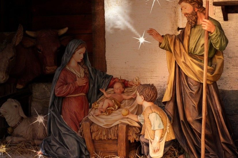 Birth of Jesus scene at every Christmas