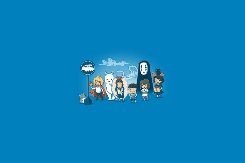 Anime characters in the bus station Wallpaper #3446