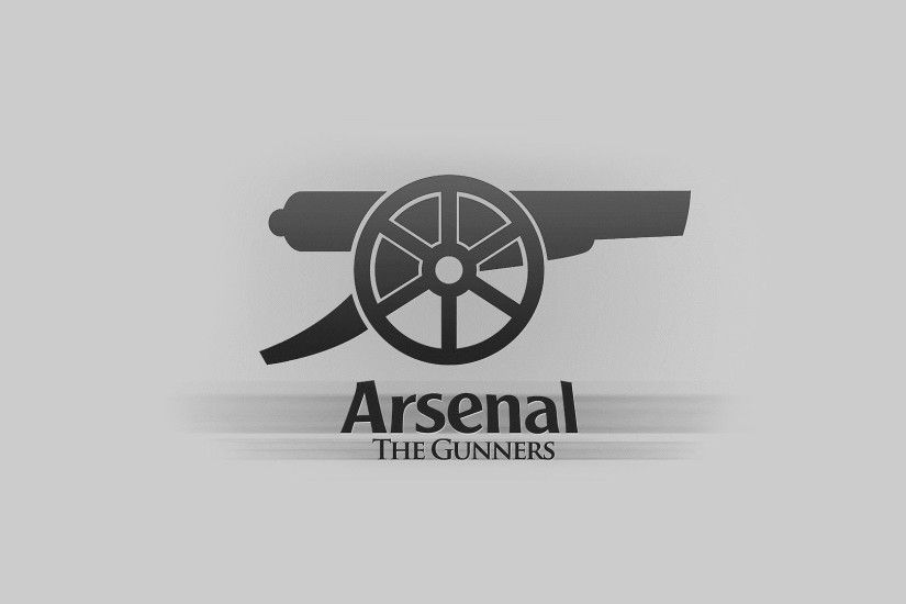 arsenal football club arsenal football club the gunners gunners emblem logo  gun inscription background