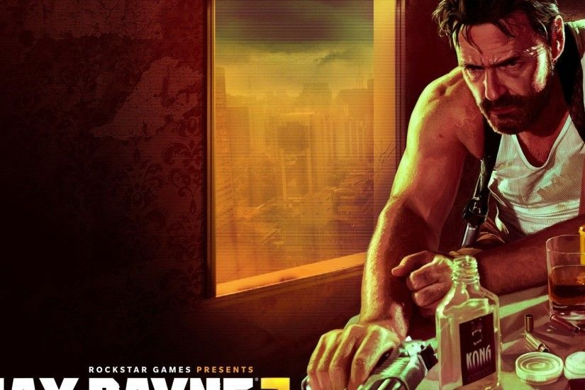 Preview wallpaper max payne 3, rockstar games, table, pistol, gun, alhocol
