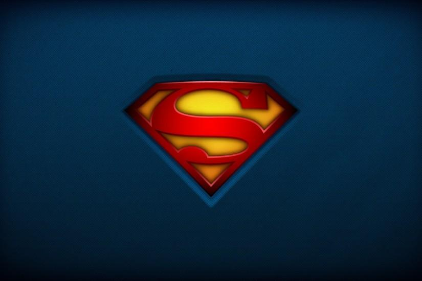 Superman with Logo Background HD Wallpaper