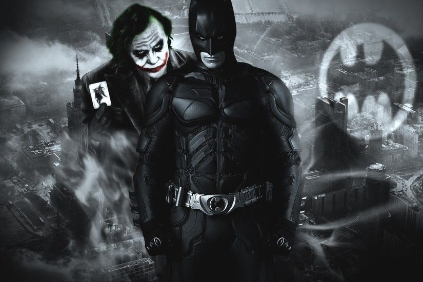 Batman den Joker dark knight wallpaper