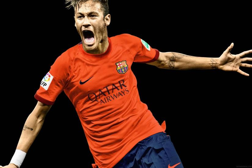 Neymar screaming wallpaper 2015 - Neymar Wallpapers