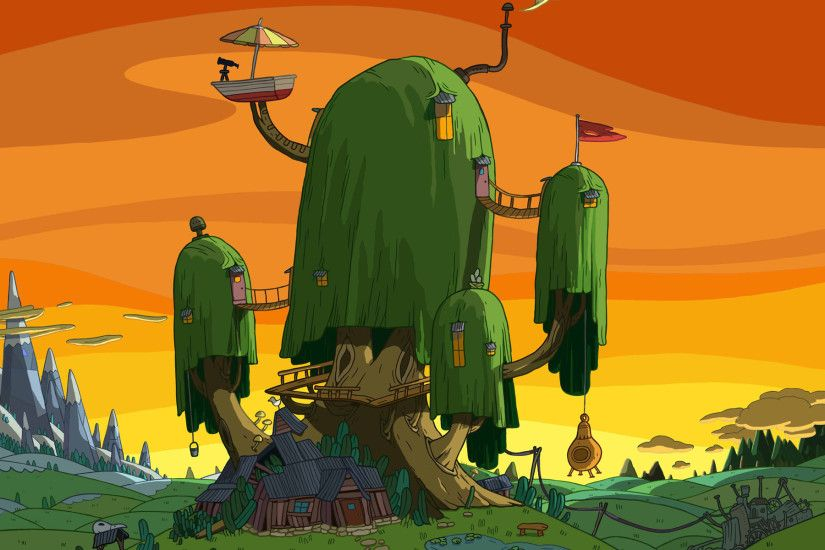 Weeping Willow Tree House Wallpaper