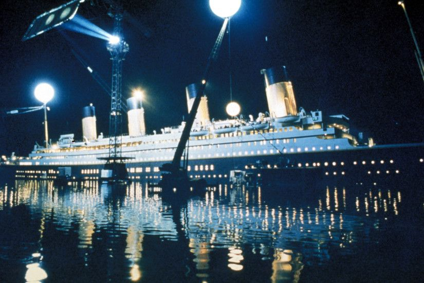 ship and set equipment during filming of the sinking of Titanic | Titanic  Movie | Pinterest | Titanic, Films and Titanic movie