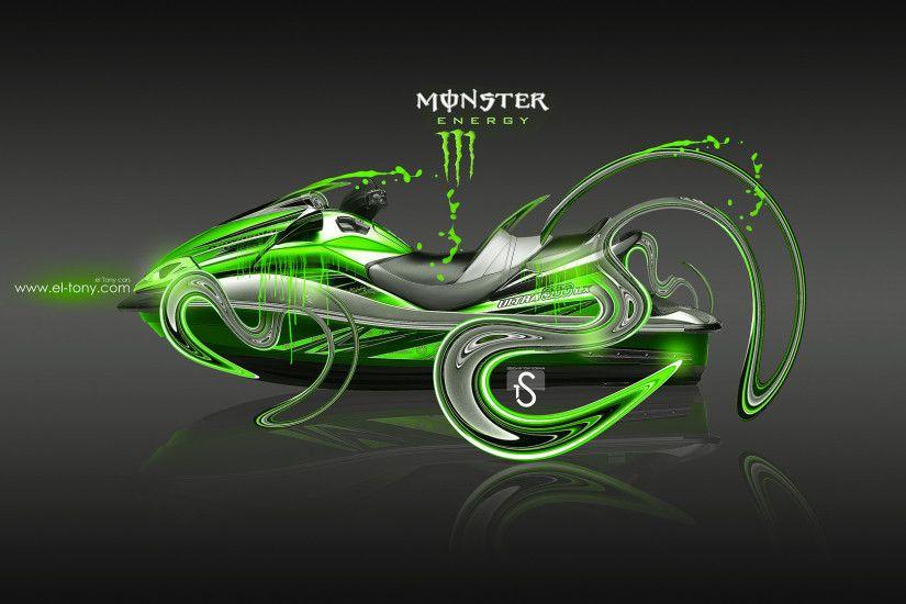Monster Energy JetSki Kawasaki Ultra 300 LX Plastic