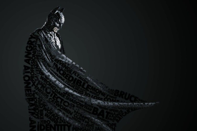 Preview wallpaper batman, style, lettering 1920x1080