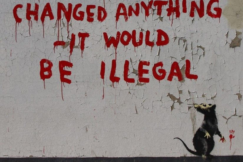 Banksy if graffiti changed anything, wallpaper wallpaper-android .