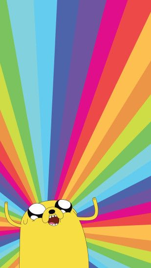 Jake the Dog Adventure Time Rainbow iPhone 6+ HD Wallpaper ...