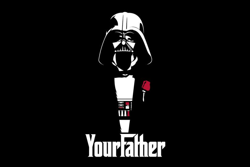 Black Background Crossovers Darth Vader Funny Minimalistic Star Wars The  Godfather
