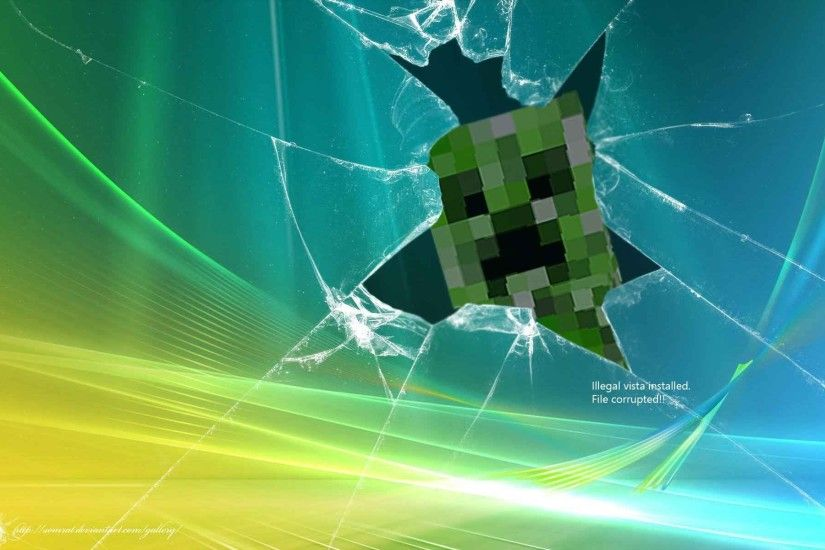 Creeper Cracked Screen ...