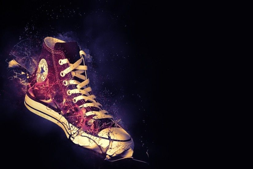 1920x1080 Wallpaper sneakers, converse, shoes, style, brand